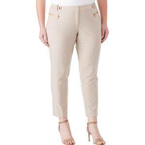 CALVIN KLEIN Plus Size Khaki Tan Crop Pants #AI1